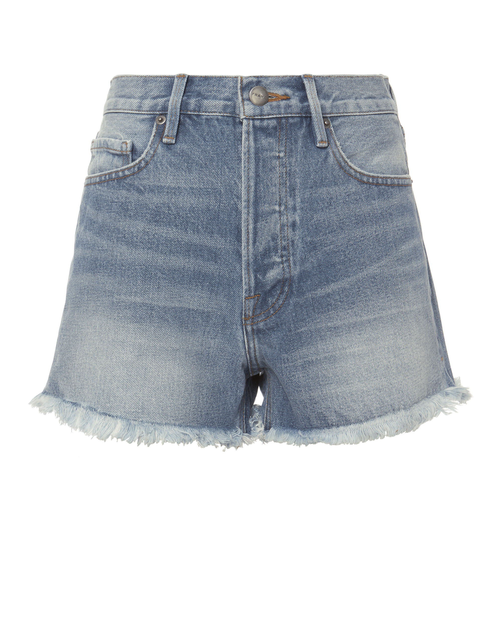 Le Original Light Blue Denim Shorts, DENIM-LT 3, hi-res