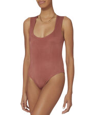 Kitten Square Neck Bodysuit, PINK, hi-res