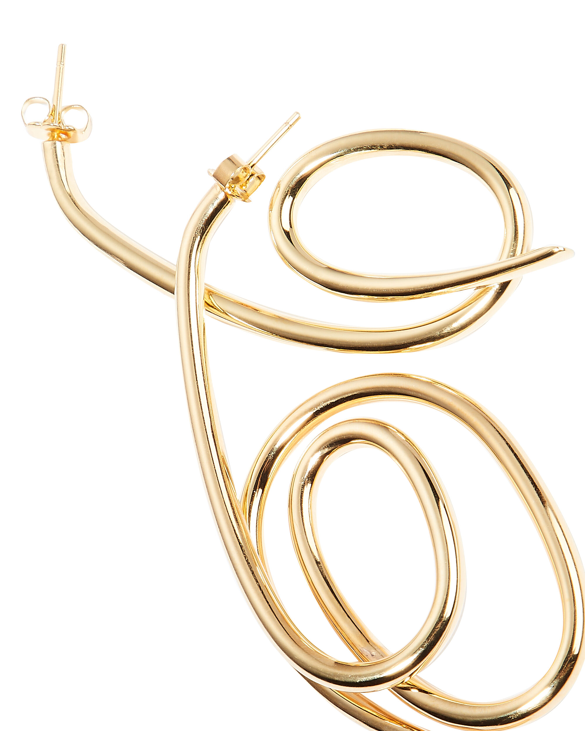 Knot Earrings, GOLD, hi-res
