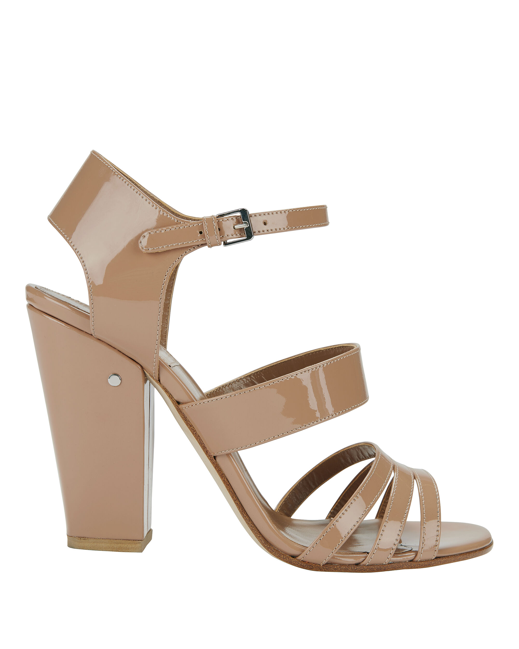 Ninon Nude Patent Leather High Heel Sandals, NUDE, hi-res