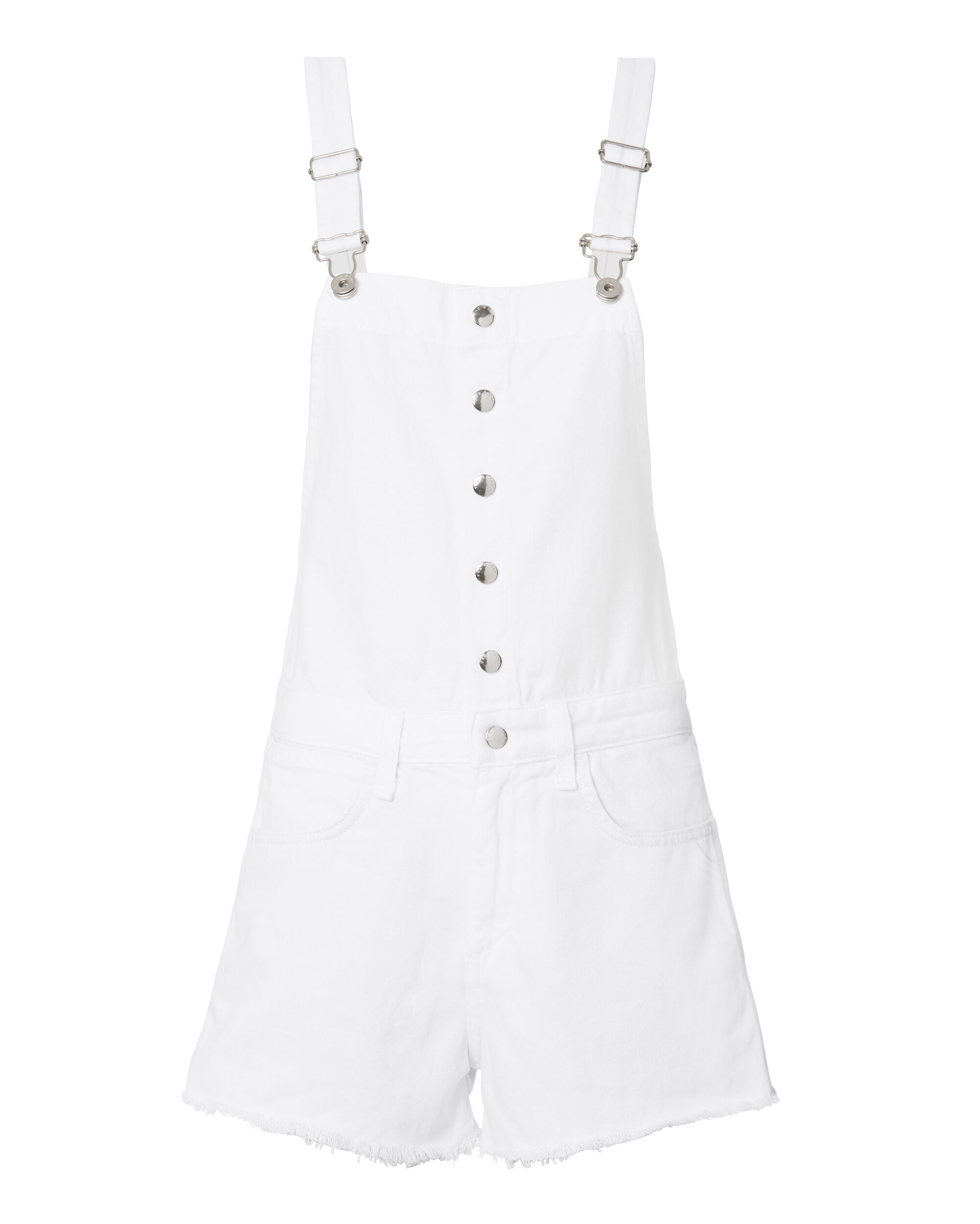 Lou Overall Shorts, WHITE, hi-res