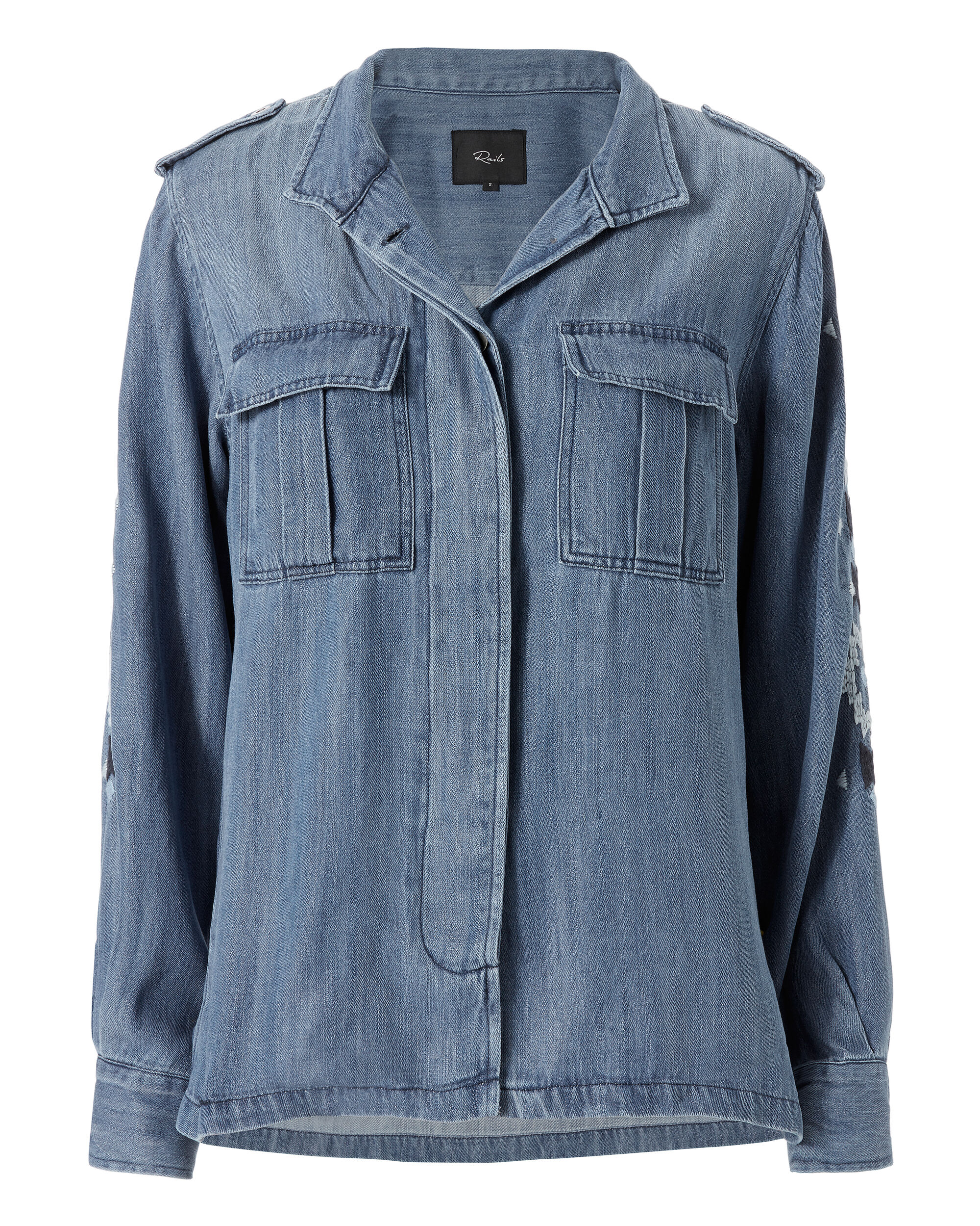 Smith Denim Jacket, DENIM, hi-res