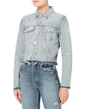Reconstructed Denim Jacket, DENIM-LT, hi-res