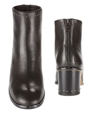 Willow Studded Leather Booties, BLACK, hi-res