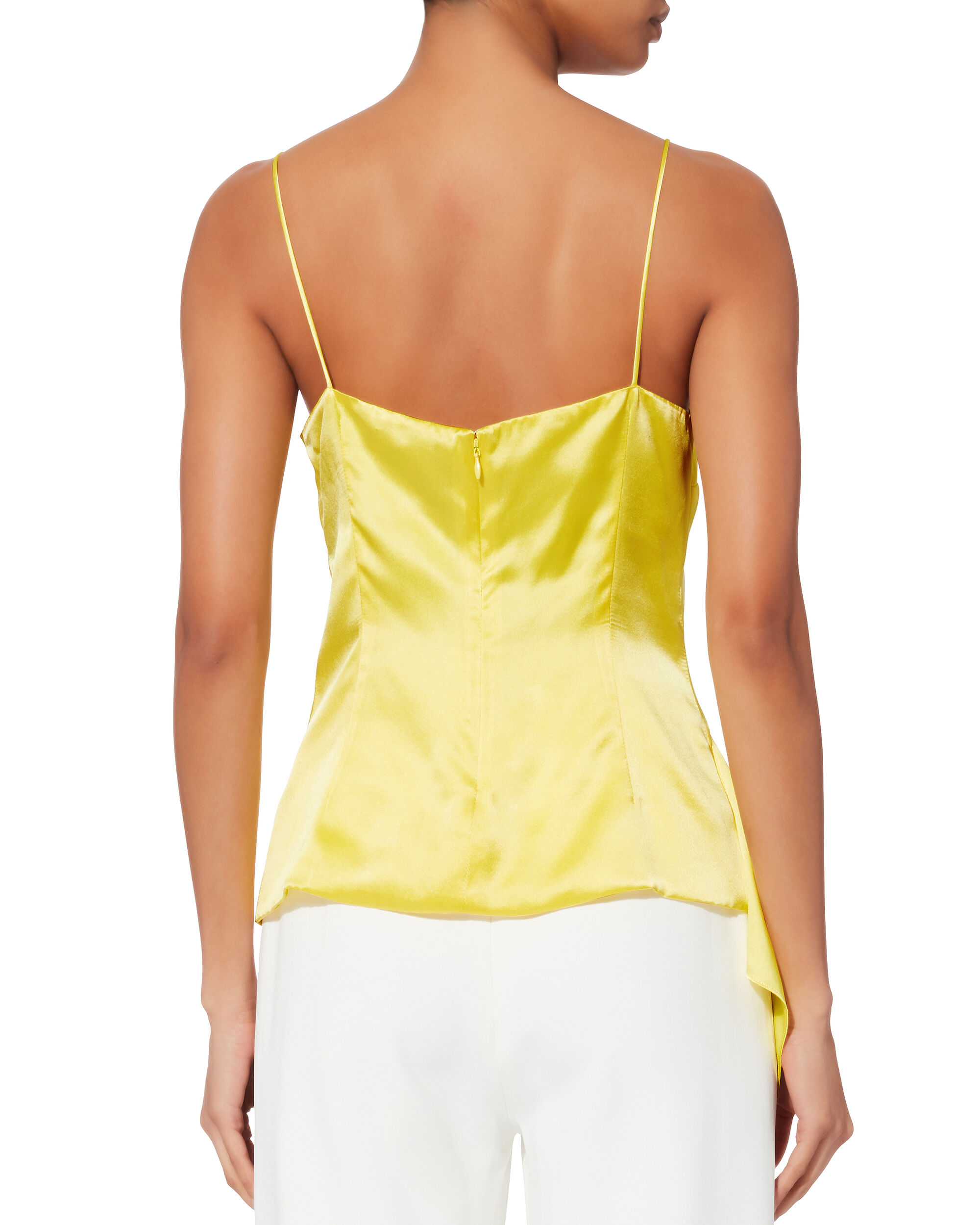Sash Panel Silk Cami, YELLOW, hi-res