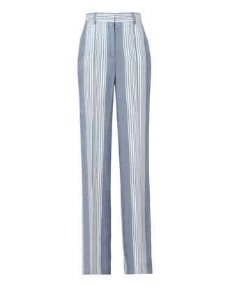 Stripe Pajama Wide Leg Pants, PATTERN, hi-res