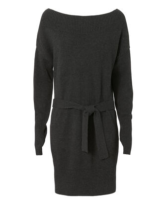 Betsee Off Shoulder Sweater Dress, CHARCOAL, hi-res