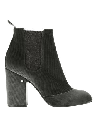 Mila Velvet Striped Boots, GREY, hi-res