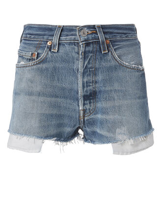 Two-Tone Shorts, DENIM, hi-res