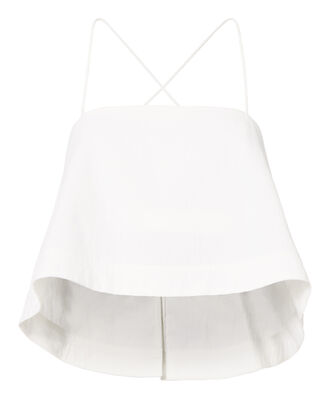 Easton Cropped Tank Top           , WHITE, hi-res