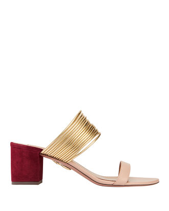 Rendez Vous Suede Sandals, BLUSH/NUDE, hi-res