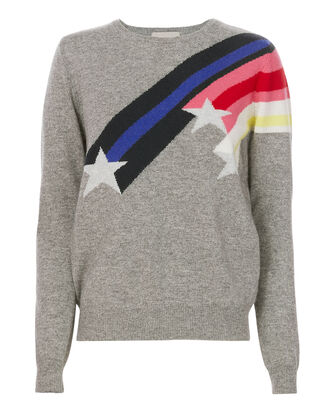Shooting Star Cashmere Sweater, GREY, hi-res