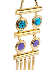 Tribal Statement Earrings, GOLD, hi-res