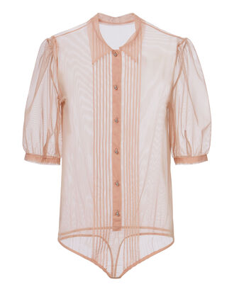 Pintuck Blush Bodysuit, PINK, hi-res