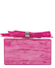 Hot Pink Wolf Shard Clutch, PINK, hi-res