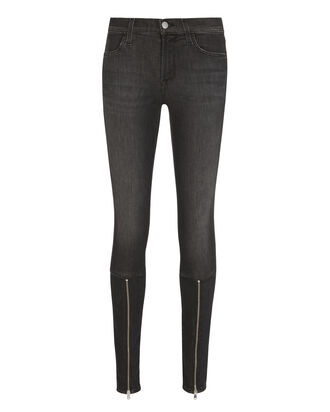 620 Zip Detail Super Skinny Grey Jeans, GREY, hi-res