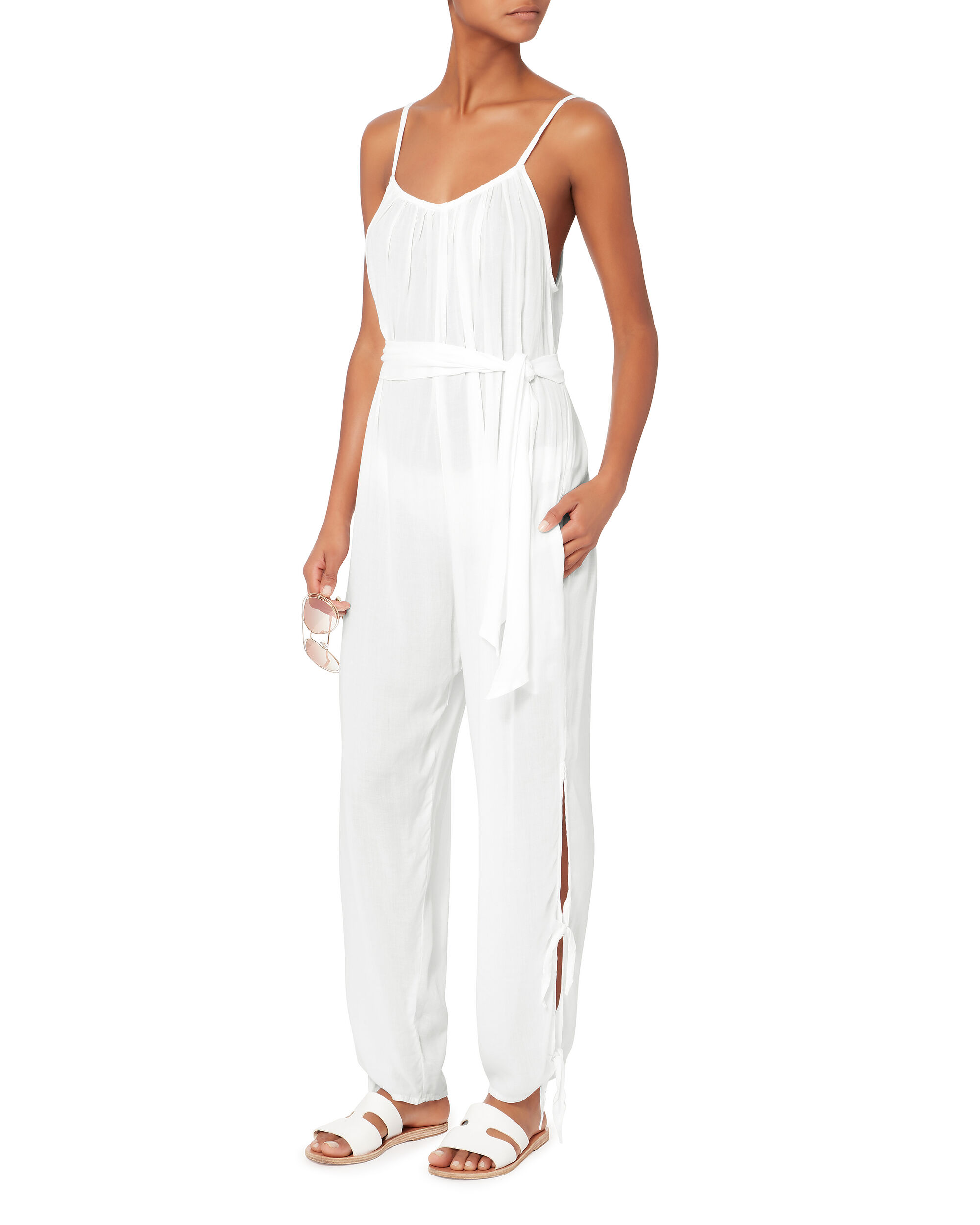 Deliah Jumpsuit, WHITE, hi-res