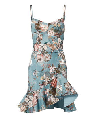 Arielle Belted Mini Dress, PRINT, hi-res