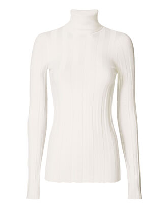 Core Ribbed Turtleneck, IVORY, hi-res
