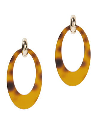 Opulent Tortoise Shell Earrings, BROWN, hi-res