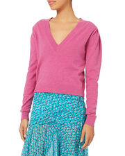 Calle Puff Sleeve Sweater, PINK, hi-res