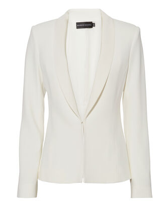 Faille Lapel Ivory Jacket, IVORY, hi-res