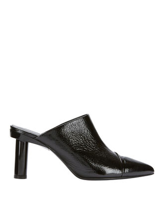 Liam Patent Leather Mules, BLACK, hi-res