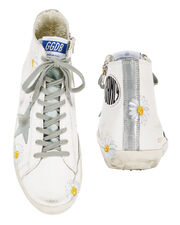 Francy Painted Daisy High-Top Sneakers, WHITE, hi-res