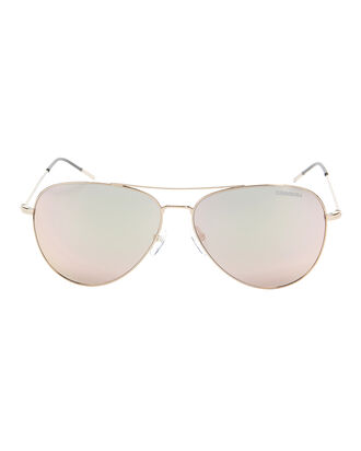 Rose Mirror Aviator Sunglasses, METALLIC, hi-res