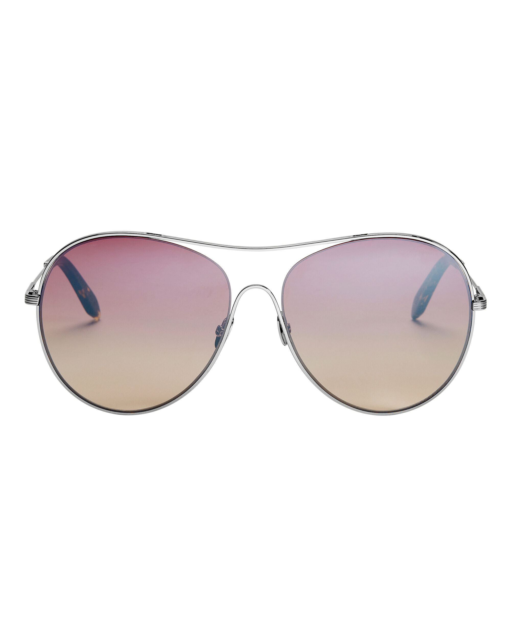 Gold Loop Round Sunglasses, METALLIC, hi-res
