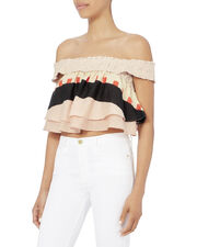 Soleil Abstract Print Crop Top, PRI-ABSTRACT, hi-res