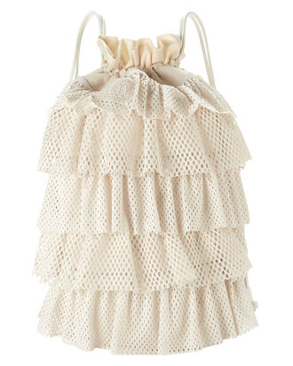 Mesh Drawstring Backpack, IVORY, hi-res
