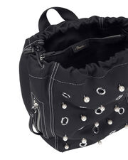 Go-Go Faux Pearl and Eyelet Backpack, NAVY, hi-res