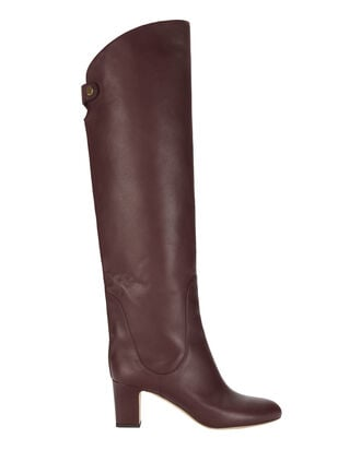 Minerva Vino Over-The-Knee Boots, RED, hi-res
