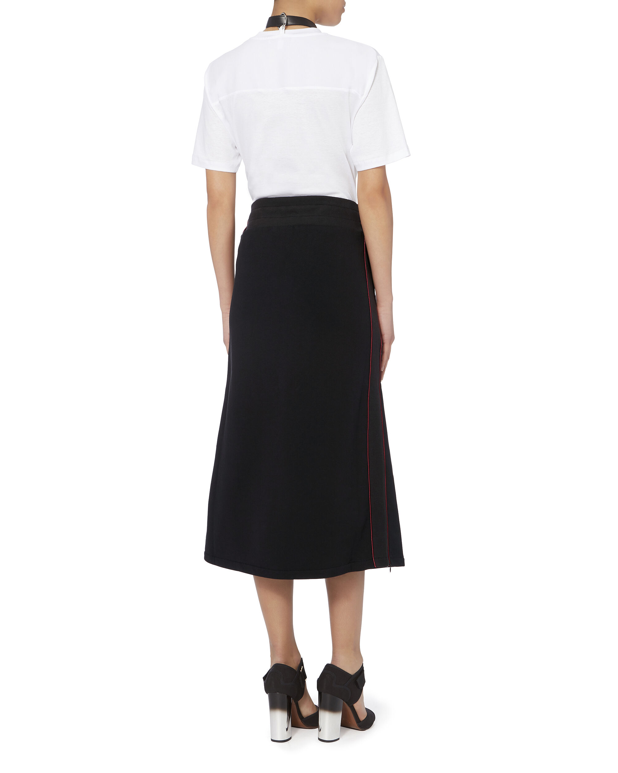 Afra Sweatshirt Side Slit Skirt, BLACK, hi-res