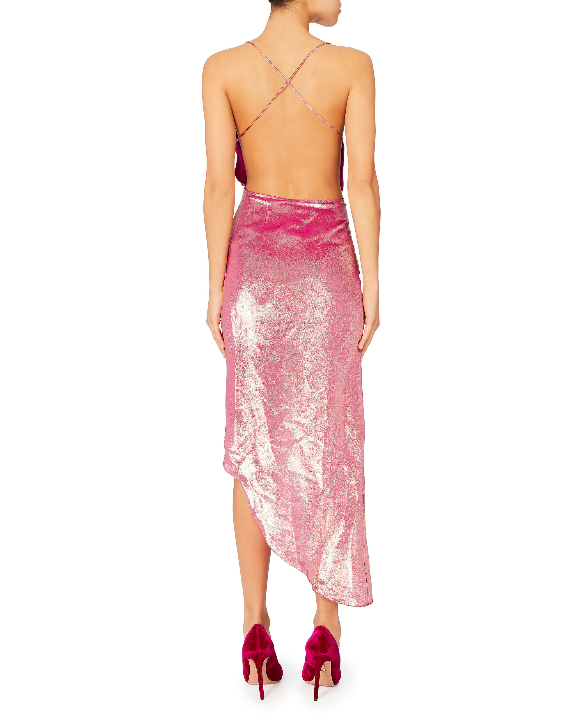 Holly High-Low Dress, PINK, hi-res