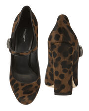 Leopard Print Mary Jane Pumps, PRINT, hi-res