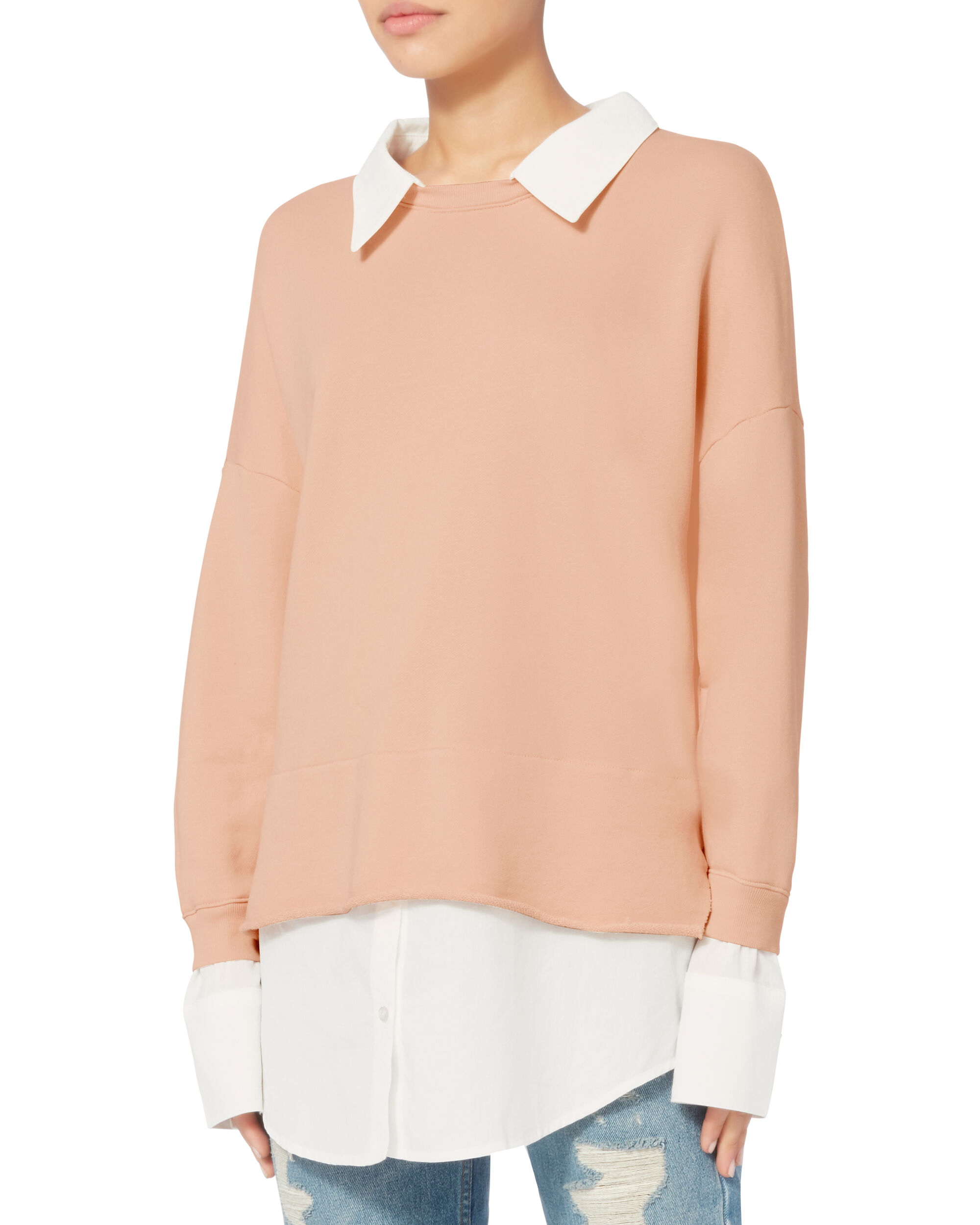 Twofer Sweatshirt, PINK, hi-res