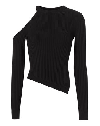 Renee Cold Shoulder Knit Top, BLACK, hi-res