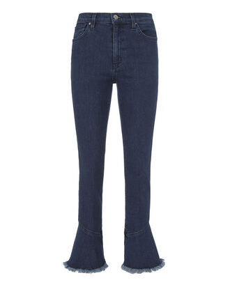 Berry Crop Flare Jeans, DENIM, hi-res