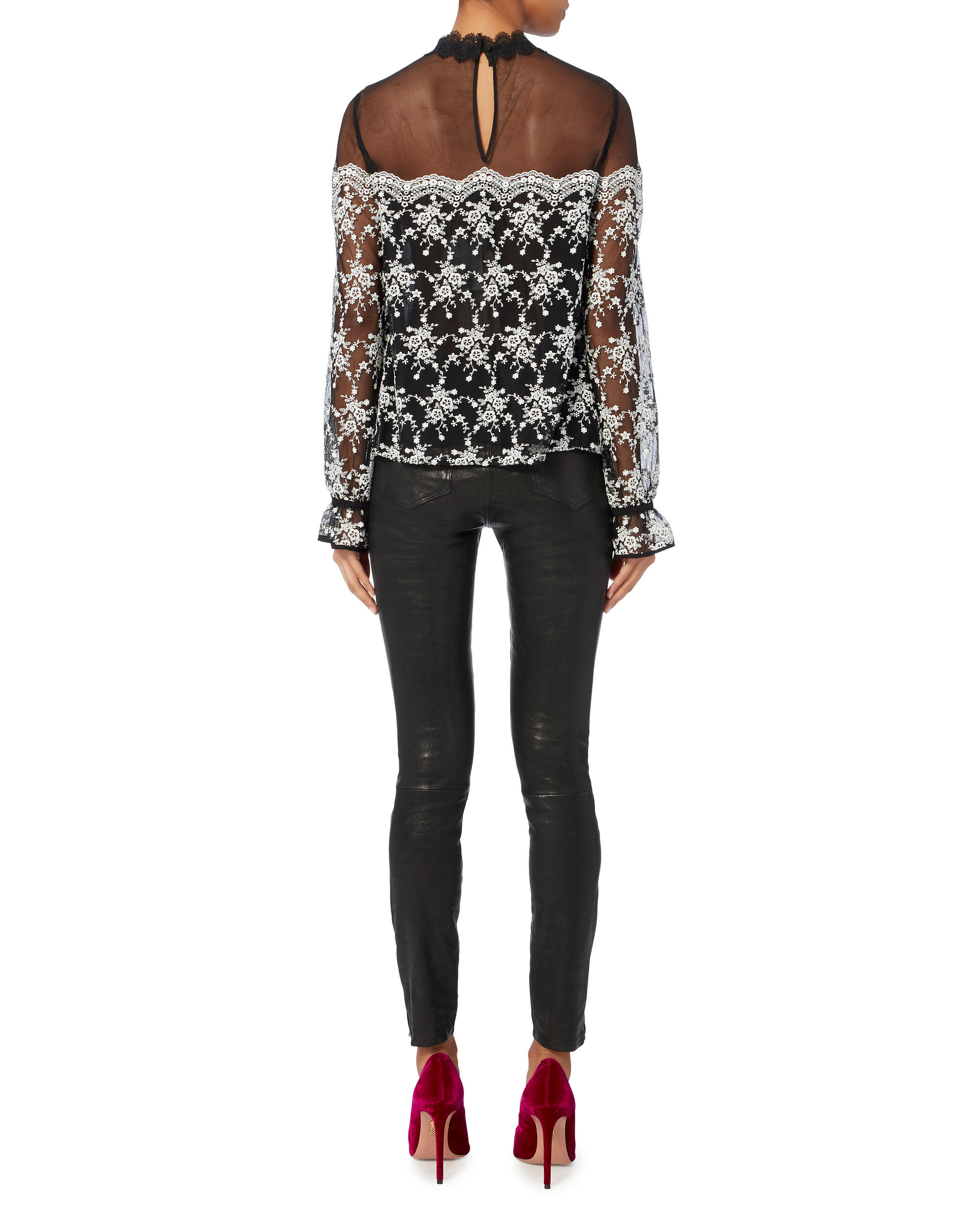 Amira Embroidered Blouse, BLACK, hi-res