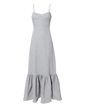 Surbi Lace-Up Back Maxi Dress, WHITE, hi-res