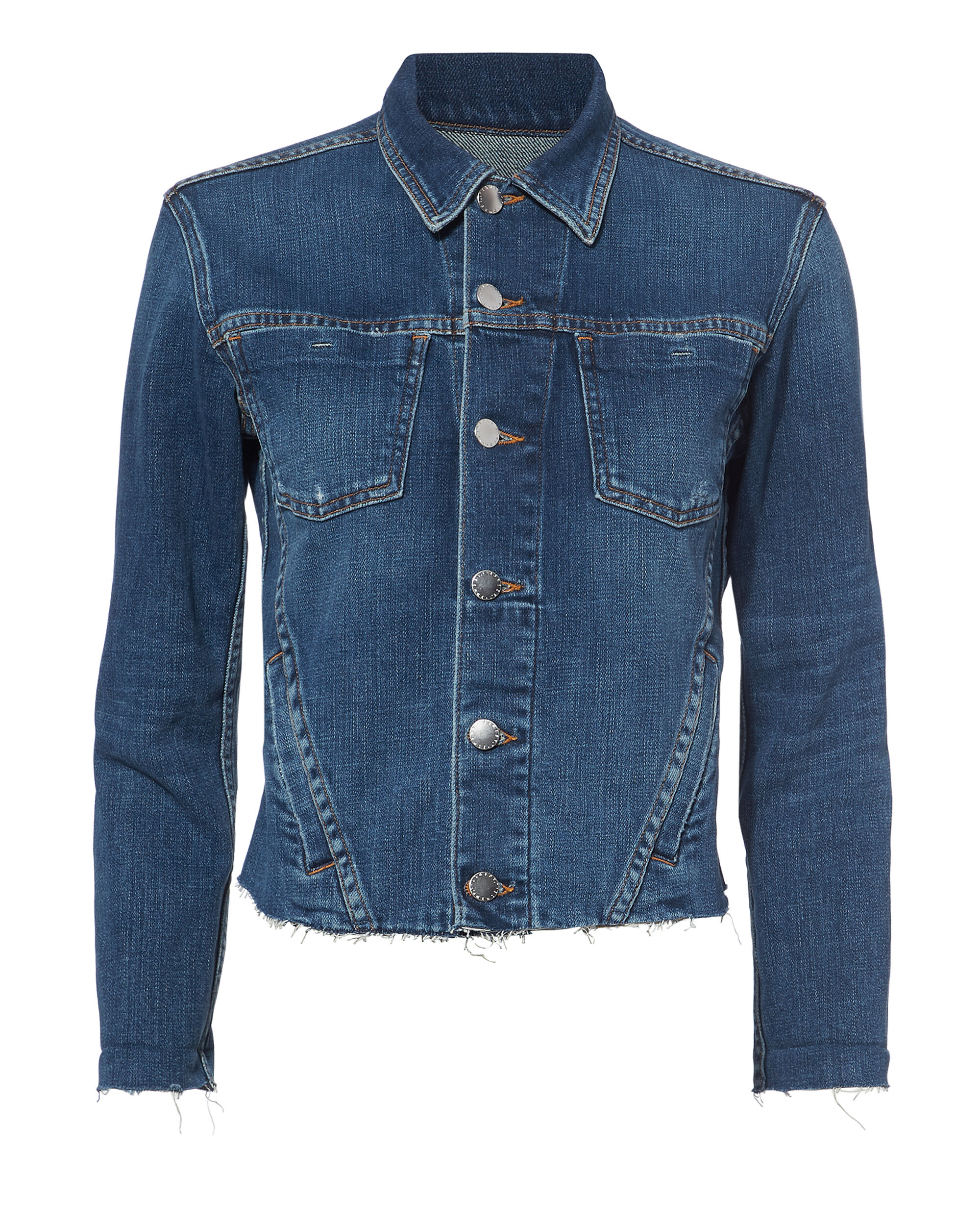 JANELLE CROPPED DENIM JACKET DENIM