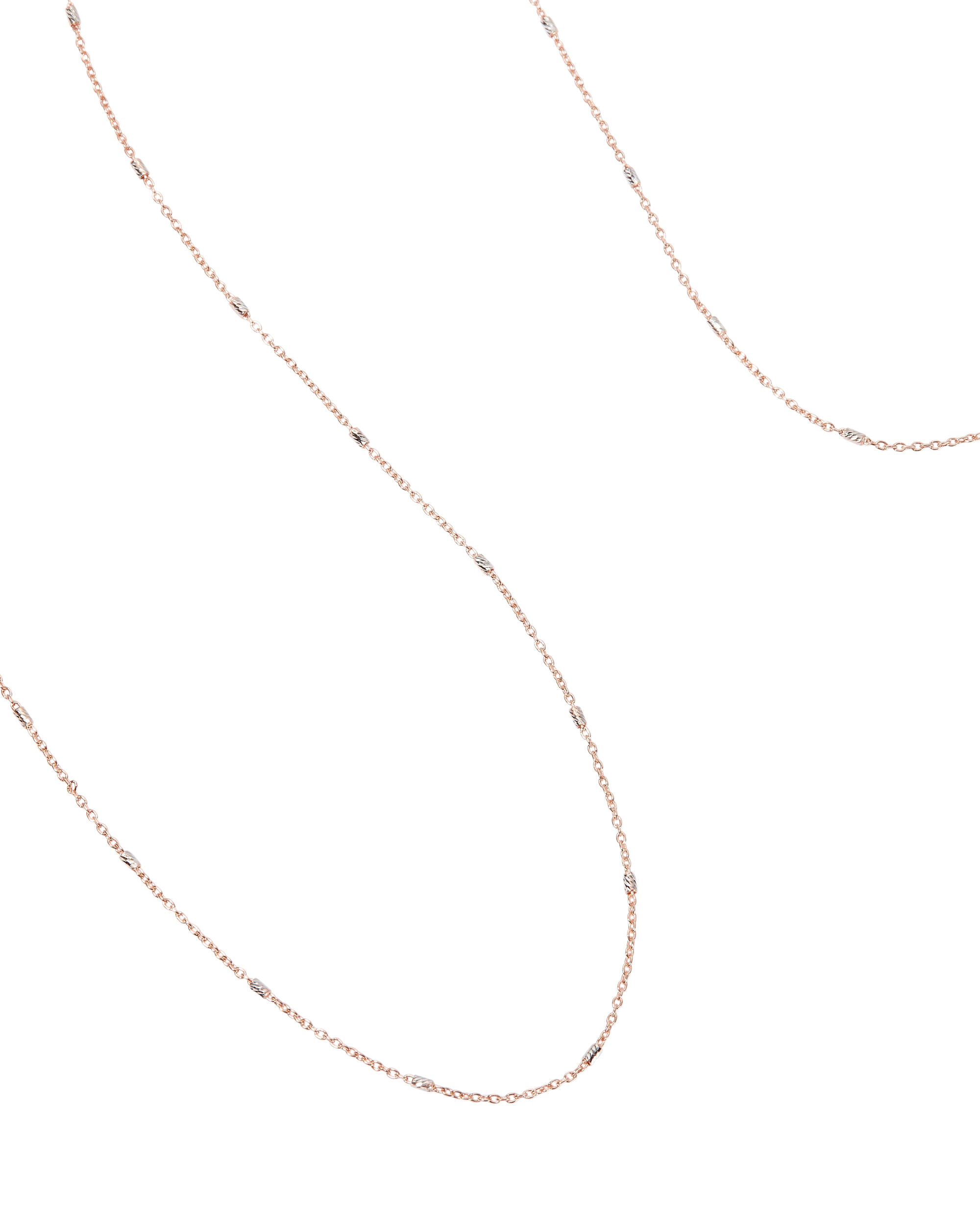 Dainty Rose Gold And Diamond Necklace, ROSE, hi-res