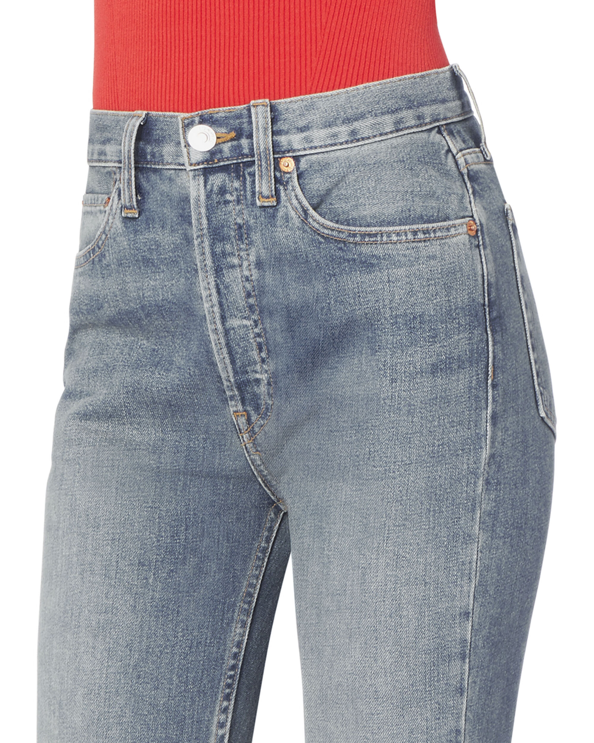 High-Rise Ankle Crop Medium Wash Jeans, DENIM, hi-res