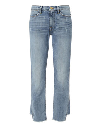 Le High Gusset Step Straight Jeans, DENIM, hi-res