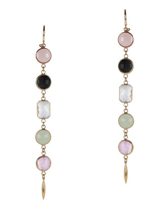 Long Drop Earrings, PINK, hi-res