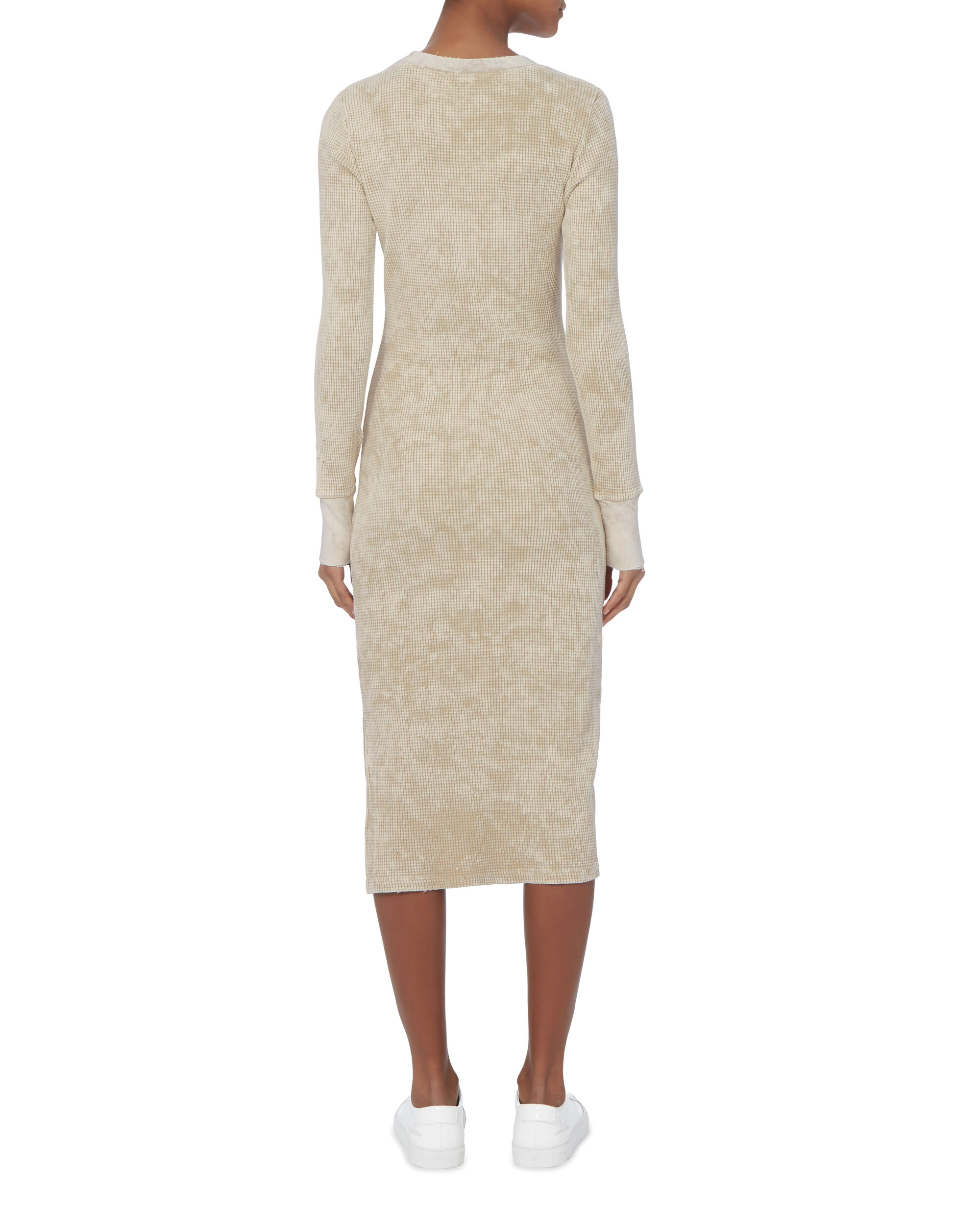The Monaco Thermal Midi Dress, BEIGE/KHAKI, hi-res