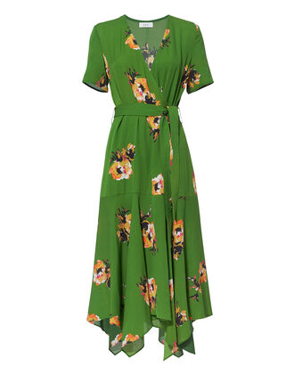 Cora Floral Wrap Dress, MULTI, hi-res