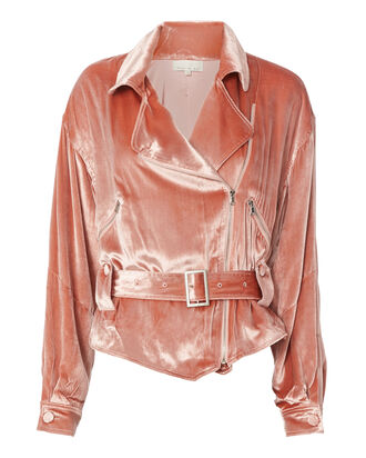 Velvet Rider Jacket, BLUSH, hi-res